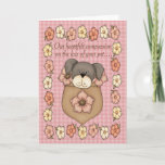 Cute Puppy In Pocket Pet Loss Sympathy Card
