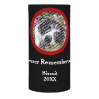 Lost Pet Memorial Photo Template Candle Wrap
