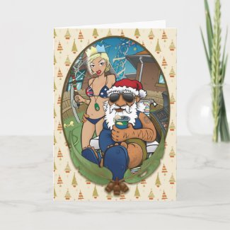 Loungekat & Bucket'o'Thought's Aussie Christmas card