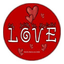 Love - A Positive Word zazzle_magnet