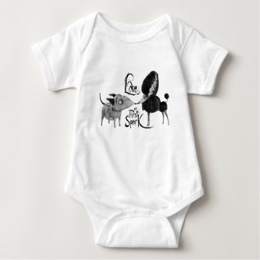 Love at First Spark Baby Bodysuit