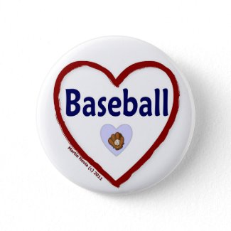 Love Baseball button