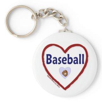 Love Baseball keychain