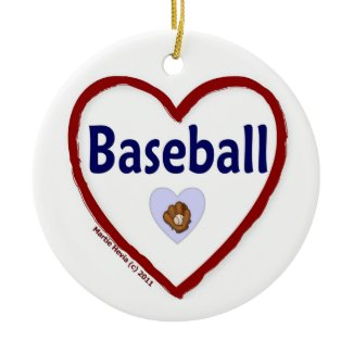 Love Baseball ornament