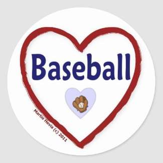 Love Baseball sticker