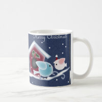 Love Birds Our First Christmas Long Distance Coffee Mug