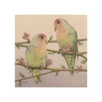Love Birds Wood Wall Art | Zazzle
