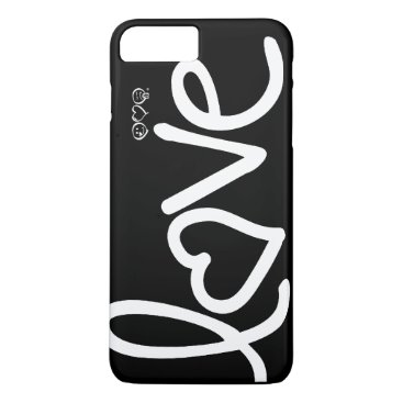 love - black and white iPhone 7 plus case