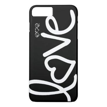 love - black and white iPhone 8 plus/7 plus case