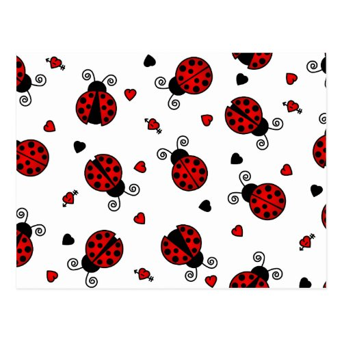 Love Bugs Red Ladybugs Postcard