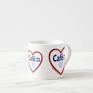 Love Café Au Lait - Espresso Mug