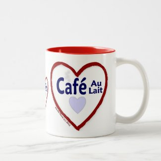 Love Café Au Lait - Two-Tone Mug