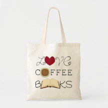 Love, Coffee, Books Tote Bag