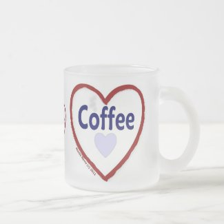 Love Coffee - Frosted Mug