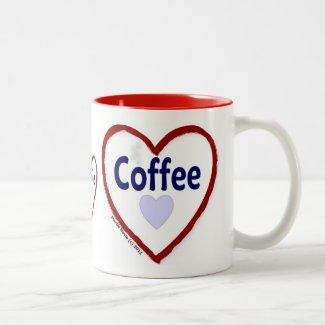 Love Coffee - Two-Tone Mug