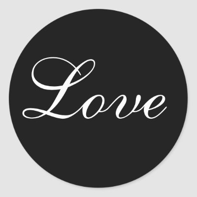 Love Envelope Seal In Black And White Stickers by TDSwhite