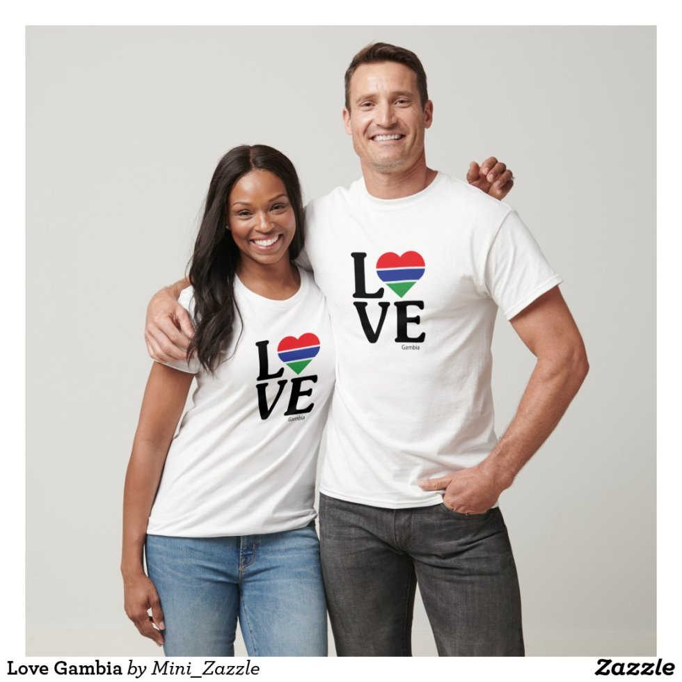 Love Gambia Couple T-Shirt