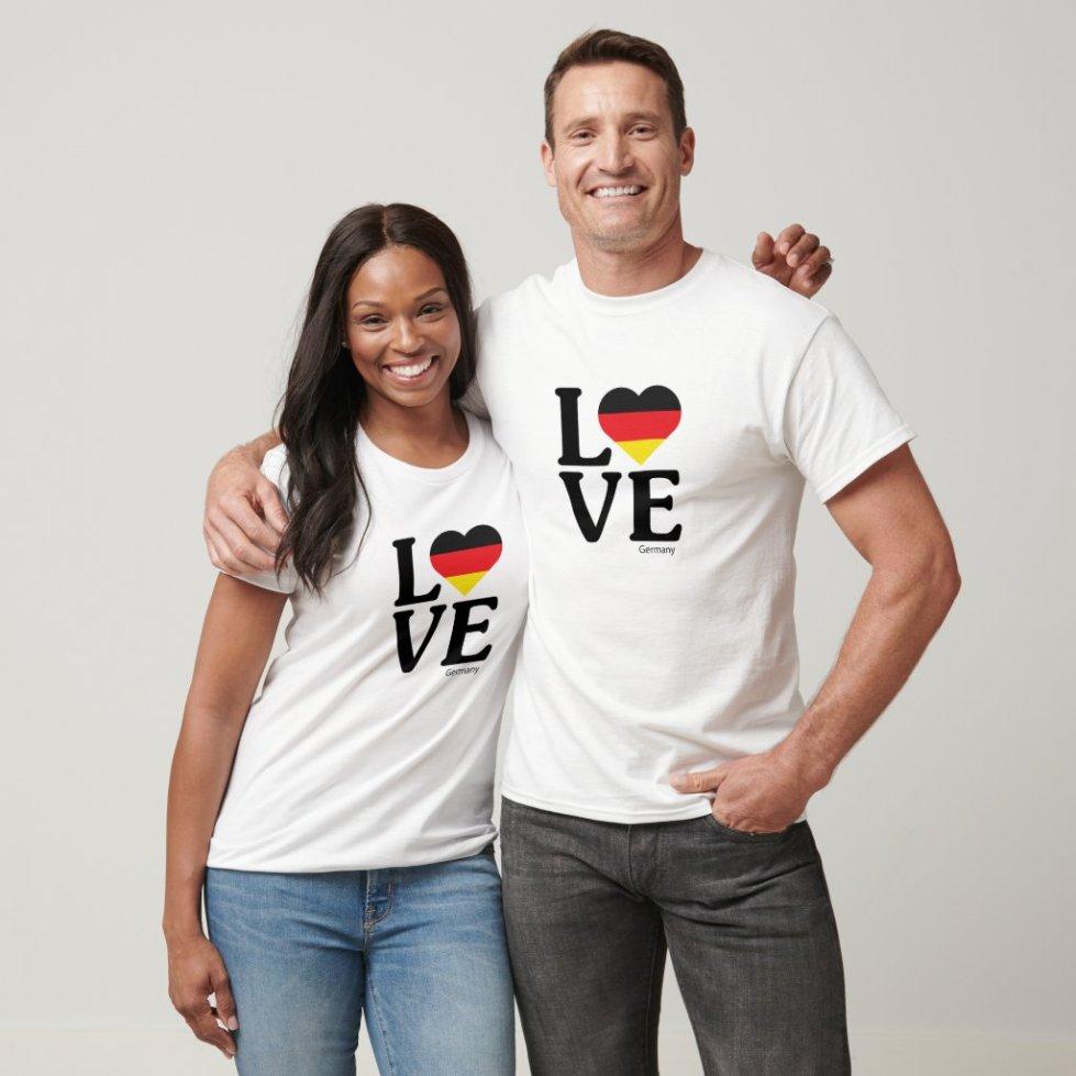 Love Germany Couple T-Shirt