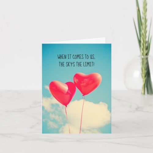 Love Heart Balloons Thinking of You Card