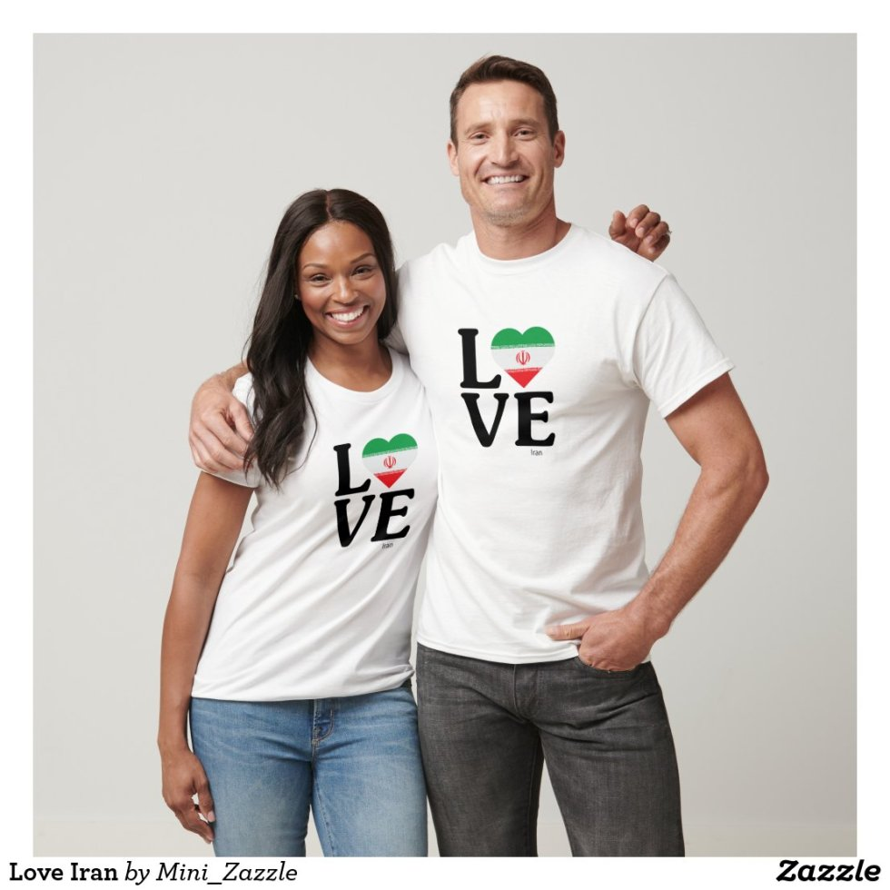 Love Iran Couple T-Shirt