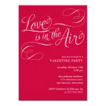 """Love is in the Air"" Stylish Valentines Day Party Invitation"