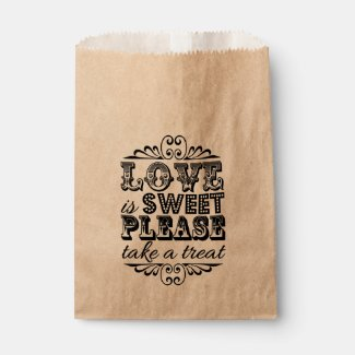 Love Is Sweet, Please Take A Treat! Wedding Favors Favor Bags