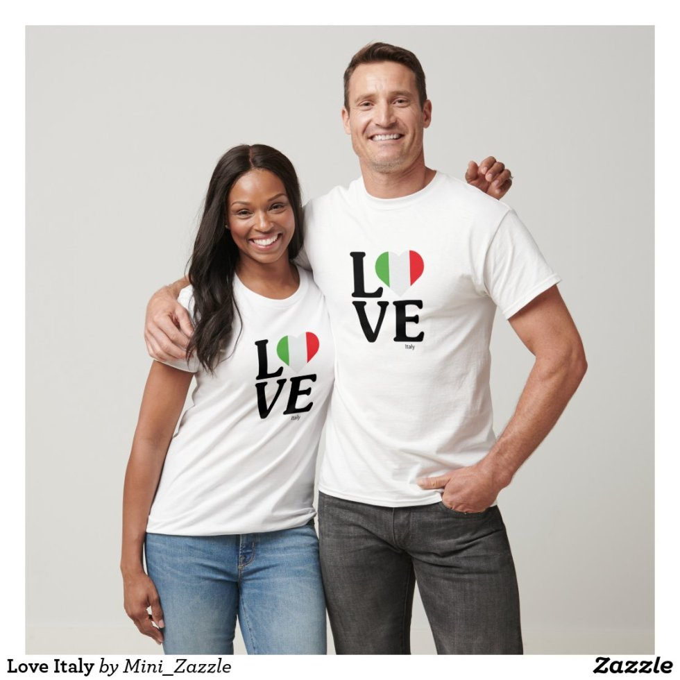 Love Italy Couple T-Shirt