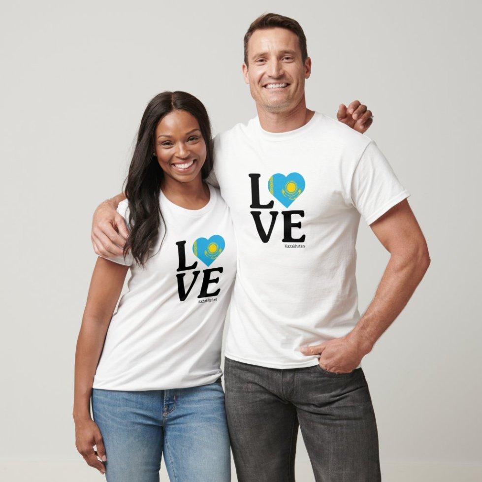 Love Kazakhstan Couple T-Shirt