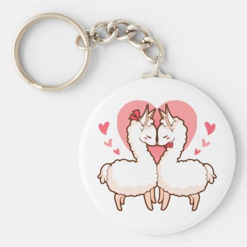 Love Llama Keychain