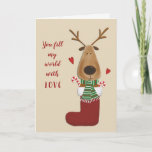 ❤️ Love Lover Spouse Partner Christmas Greeting Holiday Card