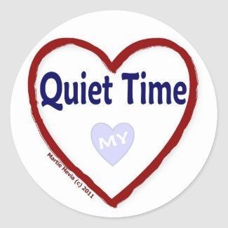 Love My Quiet Time Round Sticker