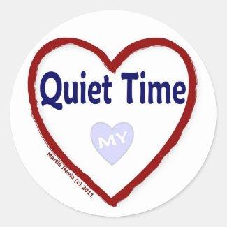 Love My Quiet Time Round Sticker