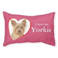 Love My Yorkie Dog Bed | Zazzle