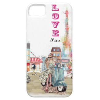 Love Paris collage iPhone 5 cases
