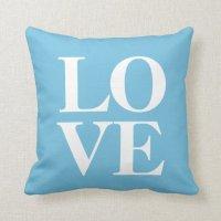 Love Pillow   Aqua Blue   Zazzle