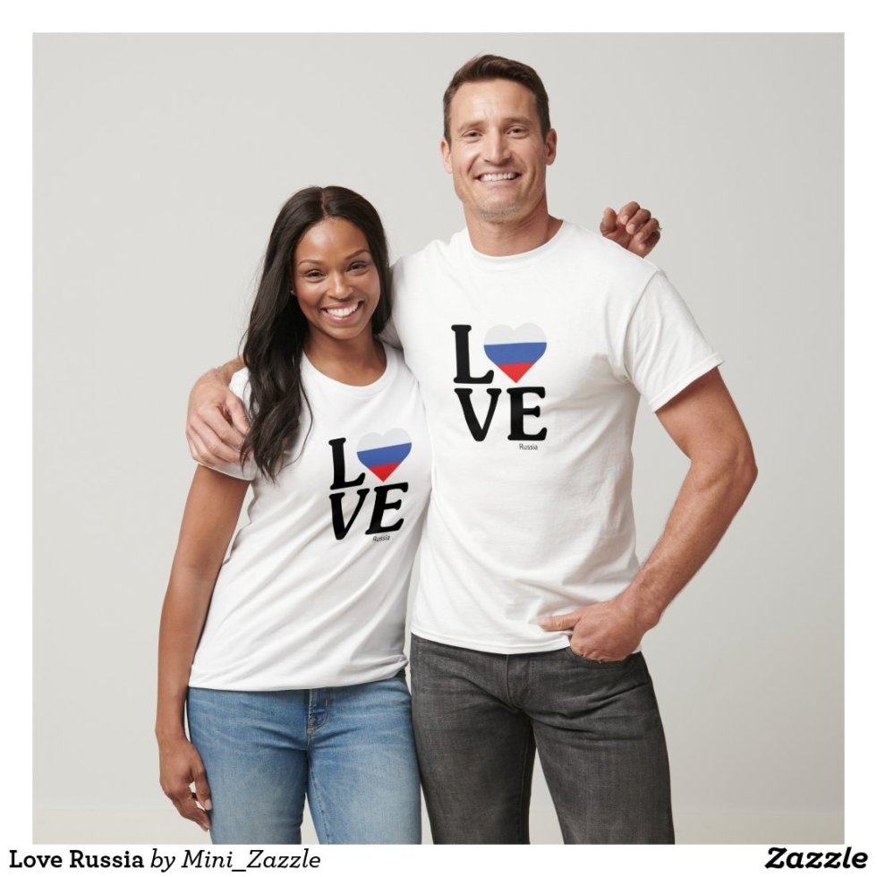 Love Russia Couple T-Shirt