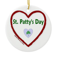 Love St. Patty's Day Christmas Ornament