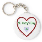 Love St. Patty's Day Keychain