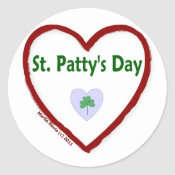 Love St. Patty's Day Sticker