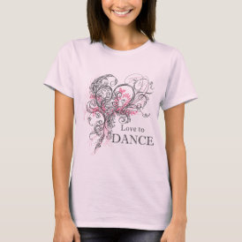 Love to Dance Baby Doll (customizable) T-Shirt