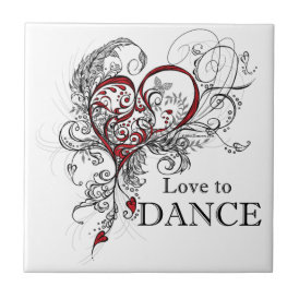 Love to Dance (Black) Tile
