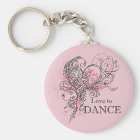Love to Dance Keychain (customizable)