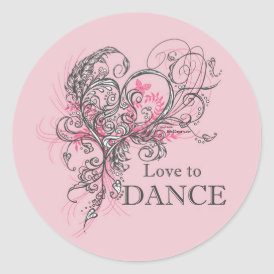 Love to Dance Sticker (customizable)