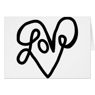 Love Typography Text Art Cards