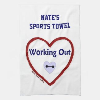 Love Working Out - Sports Towel (Personalize)