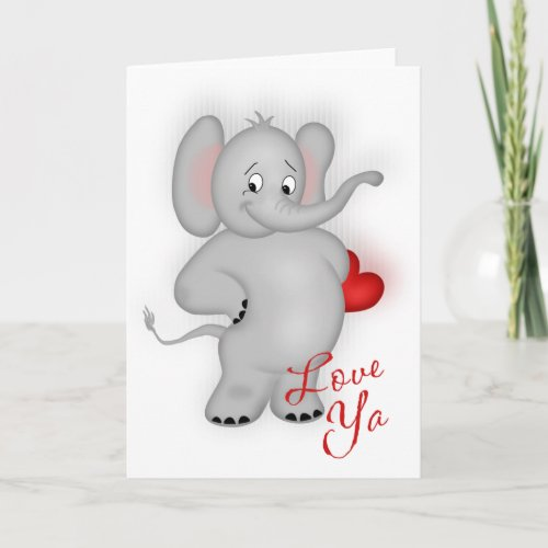 Love Ya Elephant Card