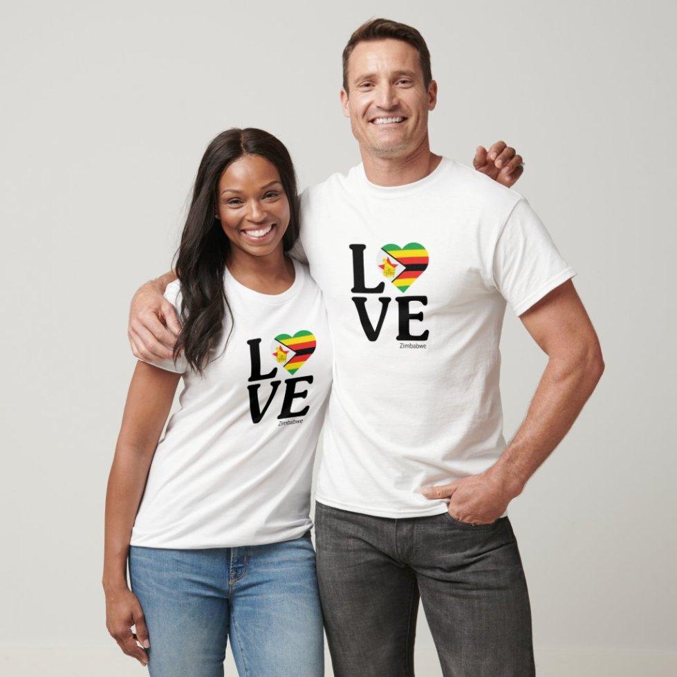 Love Zimbabwe Couple T-Shirt