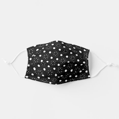 Lovely Black and White Dots and Daisy Design