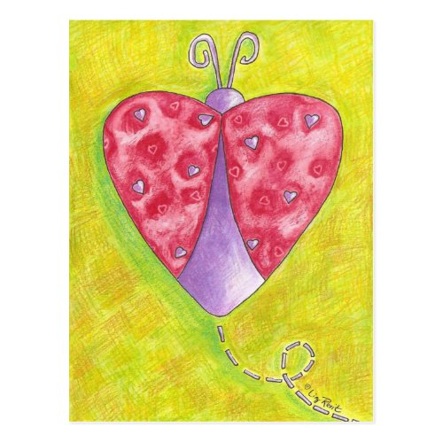 Lovely Ladybug Postcard