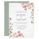Lovely Tiny Blush flower bunch Whimsical wedding Invitation